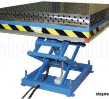 table élévatrice hydraulique avec plateforme