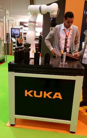 Table de soudure Siegmund avec un robot Kuka