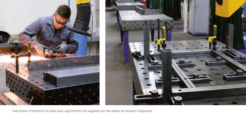 fabrication d'éléments tube acier - table de soudure siegmund