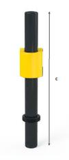 tube vertical et croix fonte