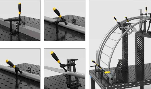 exemple utilisation pince de bridage tubulaire basic universel