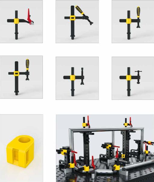 exemple utilisation tube vertical et croix fonte