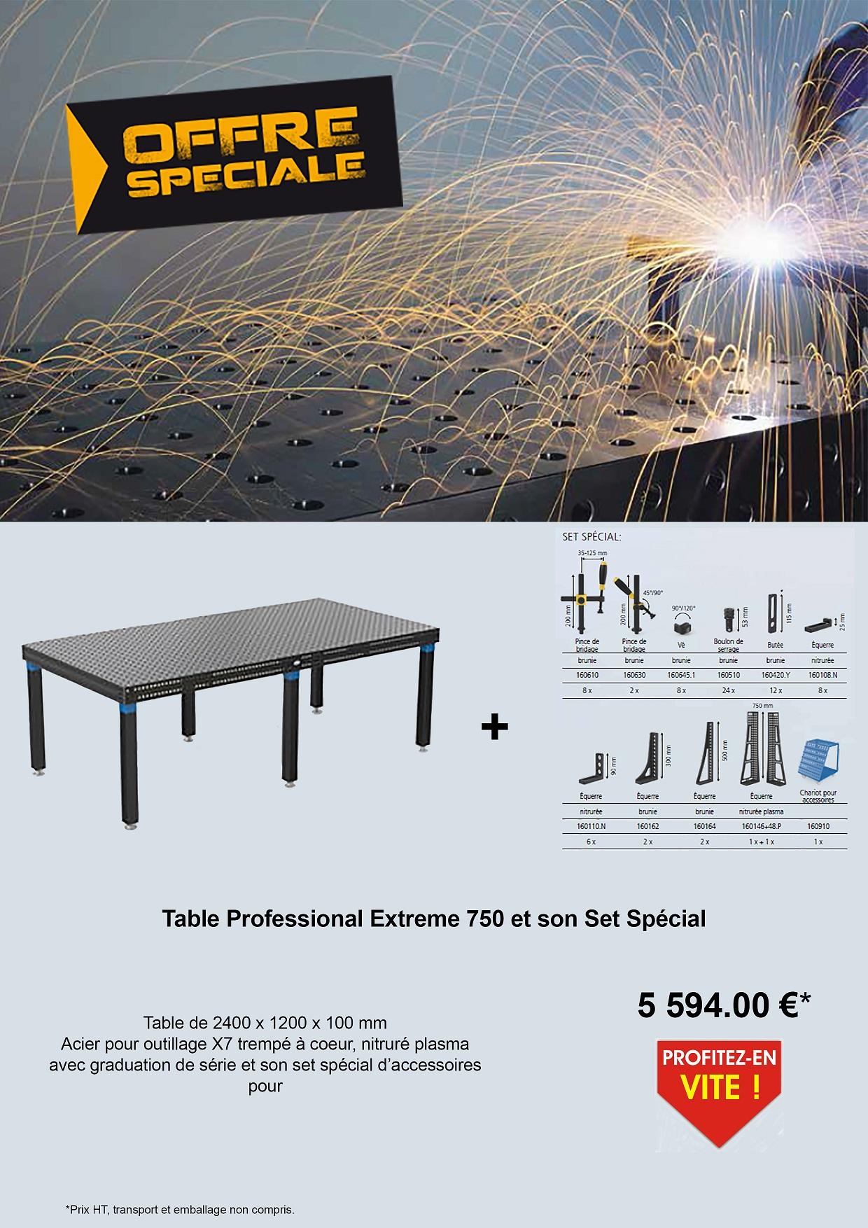 promo table et set d'accessoires