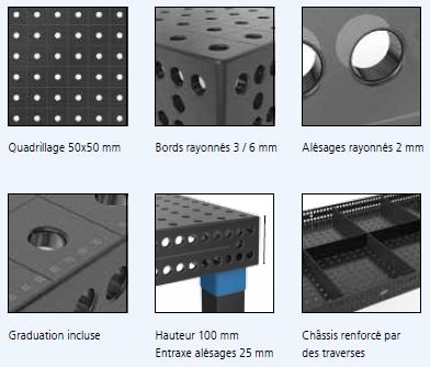 detail table de soudure système 16