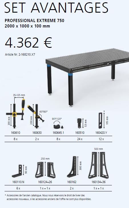 offre special table de soudure système 16