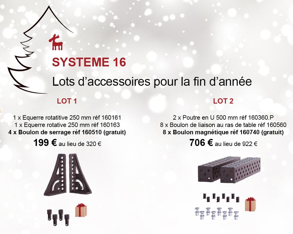 promo lots d'accessoires système 16 siegmund