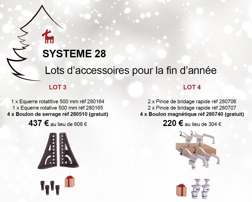 promo lots d'accessoires système 28 siegmund